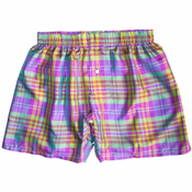 Electric Lime Magenta Silk Boxers
