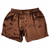 Fire Agate Brown Satin Silk Boxers