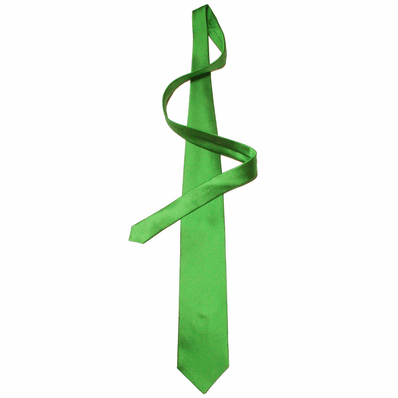 Fire Green Silk Tie