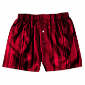 Fire Red Stripes Silk Boxers