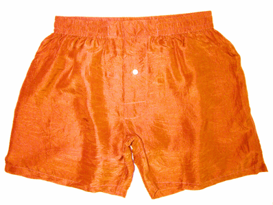 Fresh Orange Silk Boxers