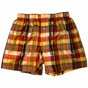 Gold Glow Fire Red Silk Boxers