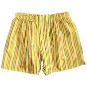 Gold Sunshine Stripes Silk Boxers