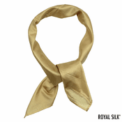 Golden Beige Silk Bandana