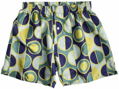 Green Passion Rings Silk Boxers