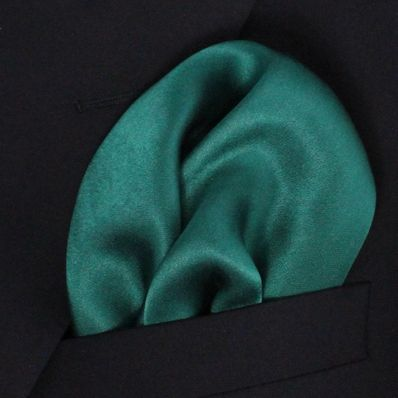 Hunter Green Satin Silk