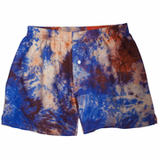 Indigo Orange Silk Tie Dye Boxers