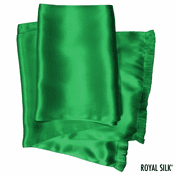 Jade Green Silk Aviator Scarf