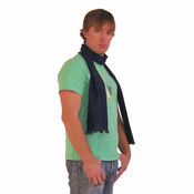 Long Silk Cashmere Scarf for Men - Navy