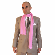 Long Silk Cashmere Scarf - Pink