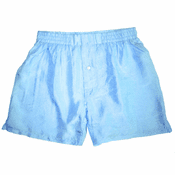 Lusty Island Blue Silk Boxers