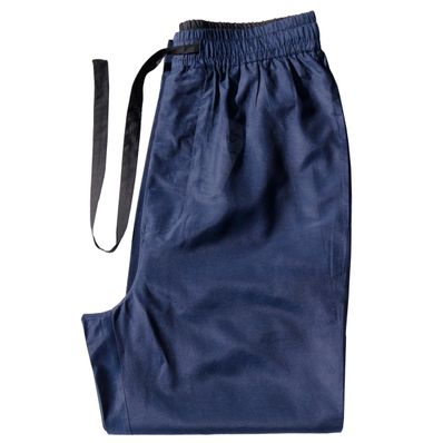 Marine Blue - Men's Silk Cotton Pajama Pants