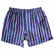 Merlin Magic - Purple Stripes Men's Silk Boxers