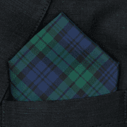 Navy Tartan Pocket Square