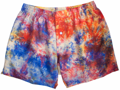 Night Nebula Silk Tie Dye Boxers