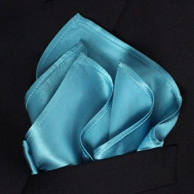 Ocean Blue Satin Silk