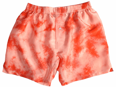 Orange Tie Dye Silk Boxers