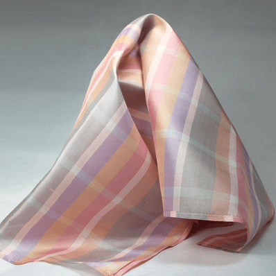Pastel Plaid Silk Pocket Square