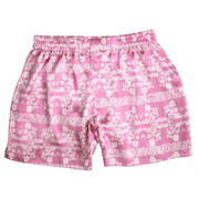 Pink Arabesque Silk Boxers