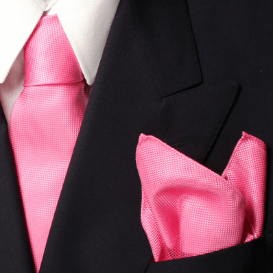 Pink Royal Silk Tie And Pocket Square Set