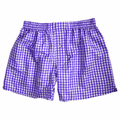 Purple Checks Silk Boxers