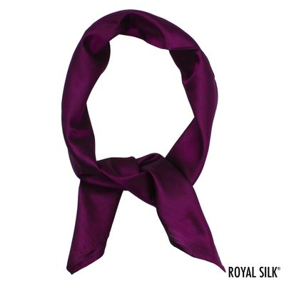 Purple Orchid Silk Bandana