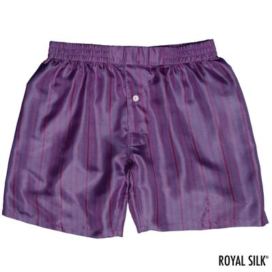 Purple Stripes Men's Silk Boxers