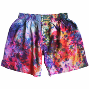 Purple Tie Dye Silk Boxers
