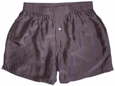 Rich Chocolate Brown Silk Boxers