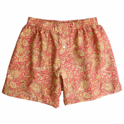 Rose Gold Paisley Floral Silk Cotton Boxers