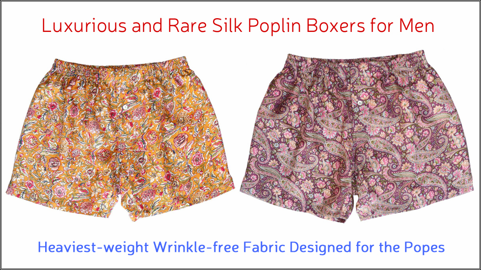 Rose Purple Paisley Silk Poplin Boxers