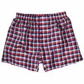 Royal Checks - Purple & Crimson Men's Silk Boxers