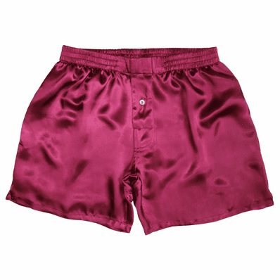 Ruby Sangria Satin Silk Boxers