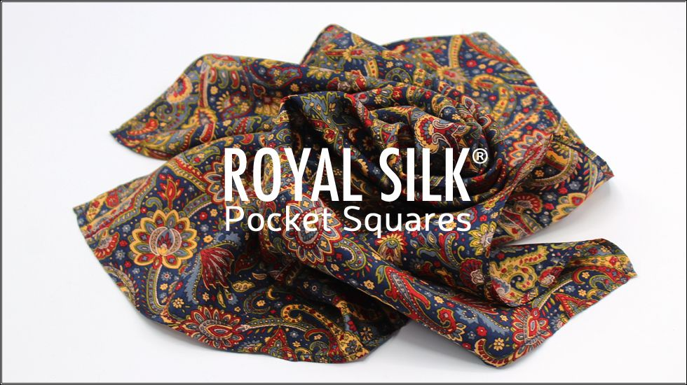 Rich Red and Tan Paisley Handkerchief Pocket Square Hankies Hanky Handkerchief