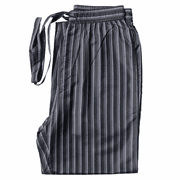 Stripes Noir - Men's Silk Pajama Pants
