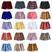 TWO ASSORTED MADRAS SILK BOXERS