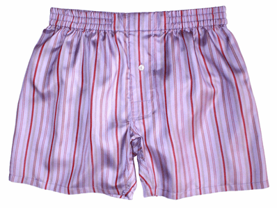 Lavender Stripes Silk Boxers
