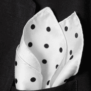 White Polka Dot Twill