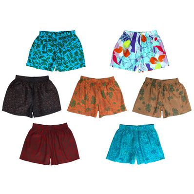 Patterned Silk Sleep Shorts, Assorted 2-Pack