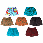 Floral Patterned Silk Sleep Shorts, Assorted 3-Pack