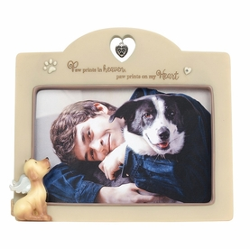 Dog Memorial Picture Frame - Paw Prints On My Heart