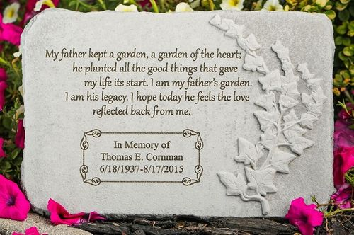 Personalized Father Memorial Stone - My Father Kept A Garden