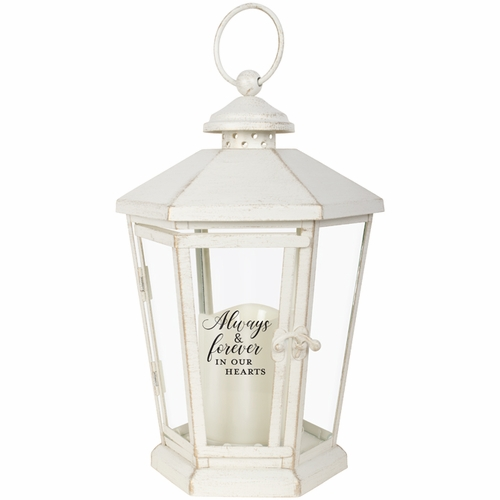 Memorial Lantern - Always and Forever In Our Hearts