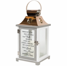 Memorial Lantern - They Walk Beside Us Every Day