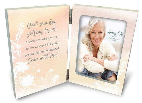 Personalized Memorial Picture Frame - God Saw Her