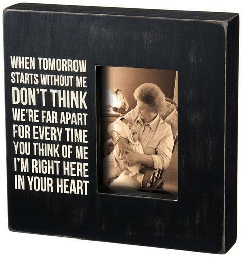 Memorial Picture Frame - In Your Heart