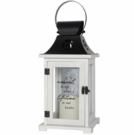 Memorial Picture Frame Lantern - Lifetime In Our Hearts