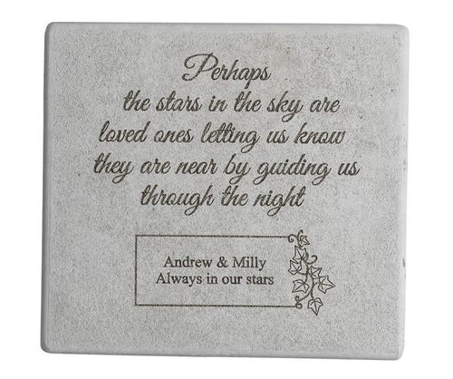Perhaps The Stars - Personalized Memorial Stone