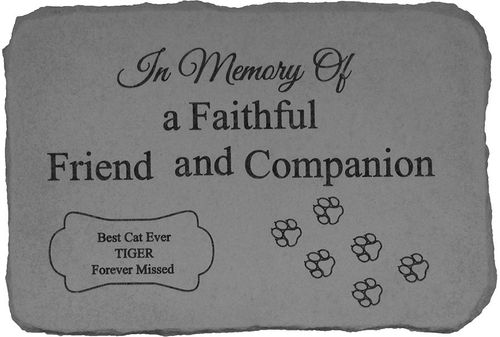 Personalized Cat Memorial Stone - In Memory Of