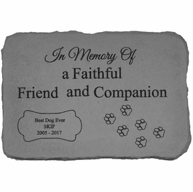 Personalized Dog Memorial Stone - In Memory Of